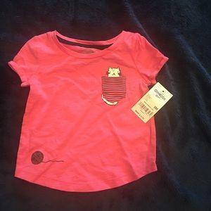 Nwt Oshkosh pink pocket tshirt